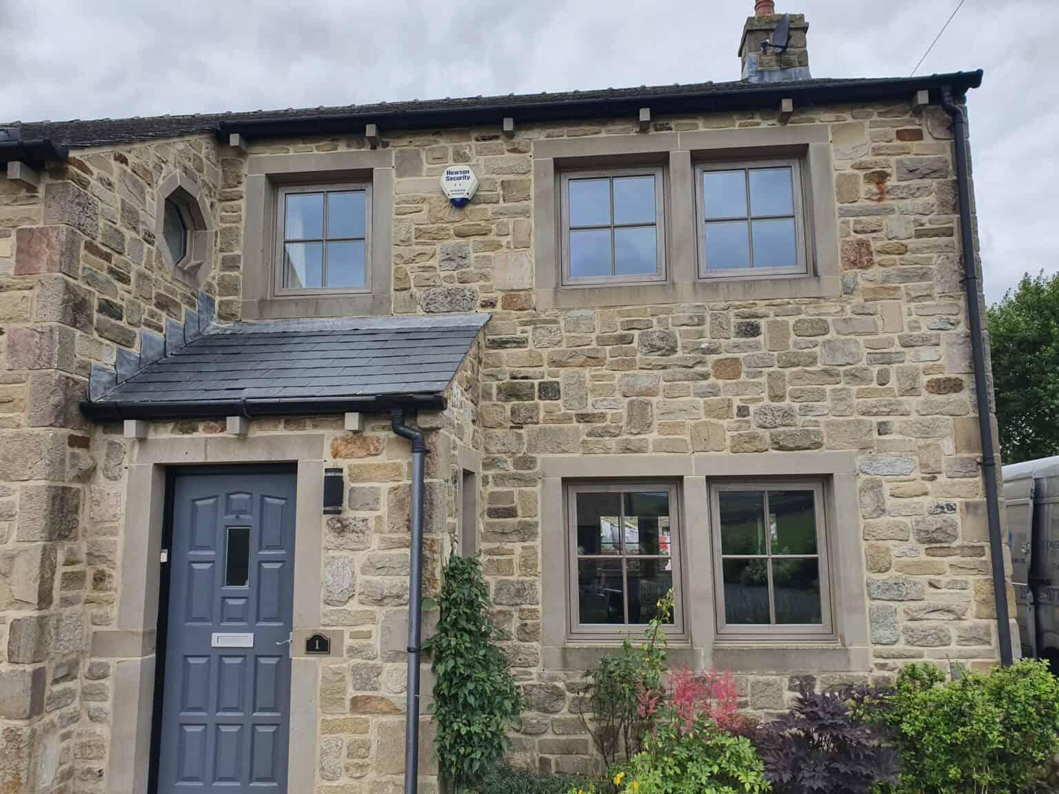 uPVC casement windows on a cottage