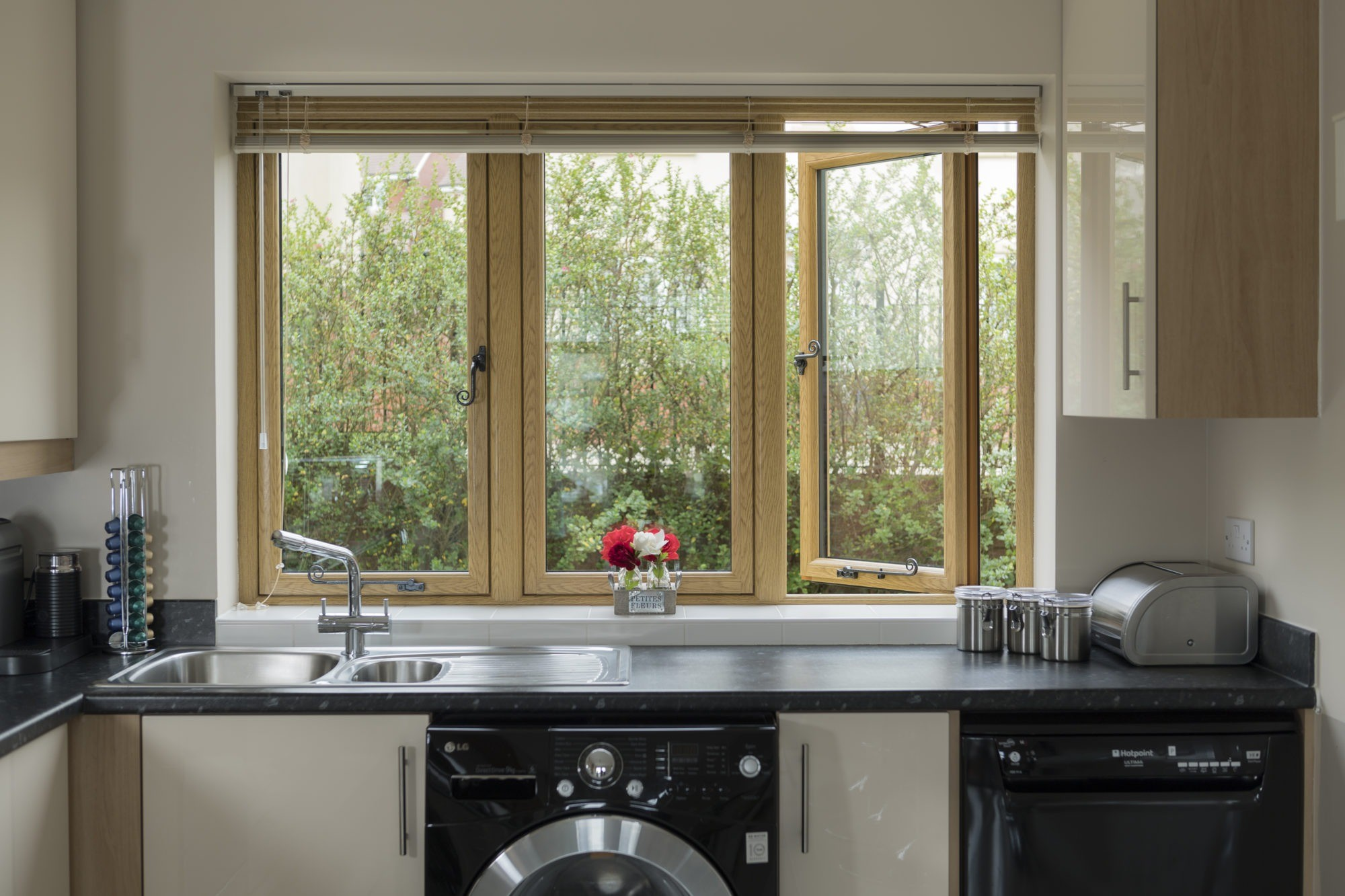 upvc casement window kitchen interior