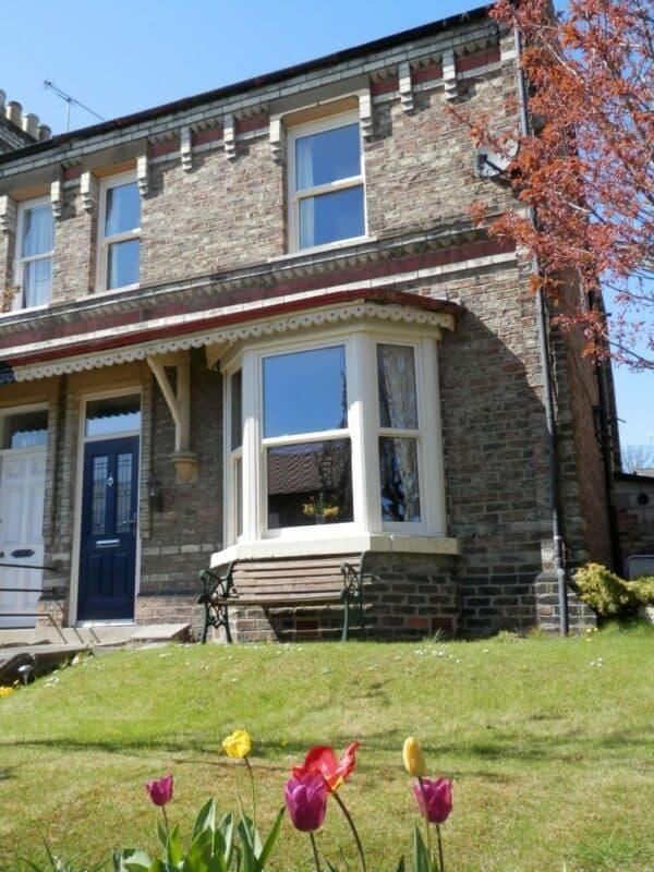 Stunning period renovation featuring the Genesis Vertical sliding sash window fitted by Fersina windows Malton