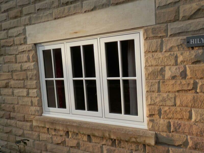 uPVC window on cottage