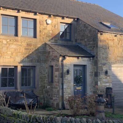 upvc casement windows on stone house