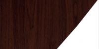 Rosewood / White PVC