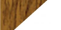 Golden Oak / White PVC