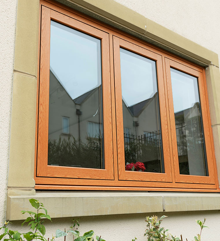 Flush Sash Window orange/brown