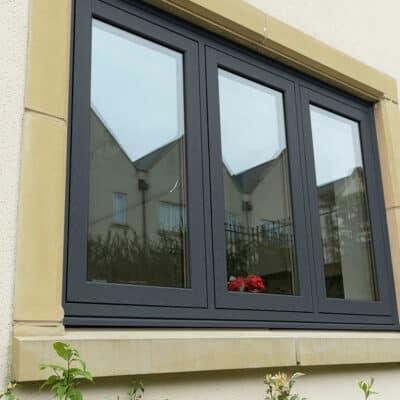 Flush Casement Window in black