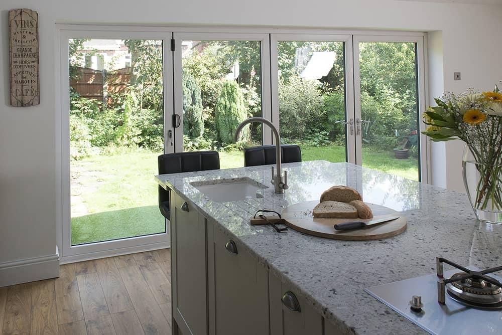 bifold doors in kitchen