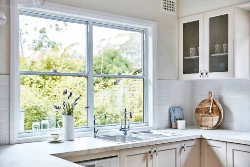 modern windows kitchen
