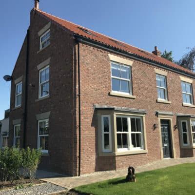 beautiful house with sliding sash windows