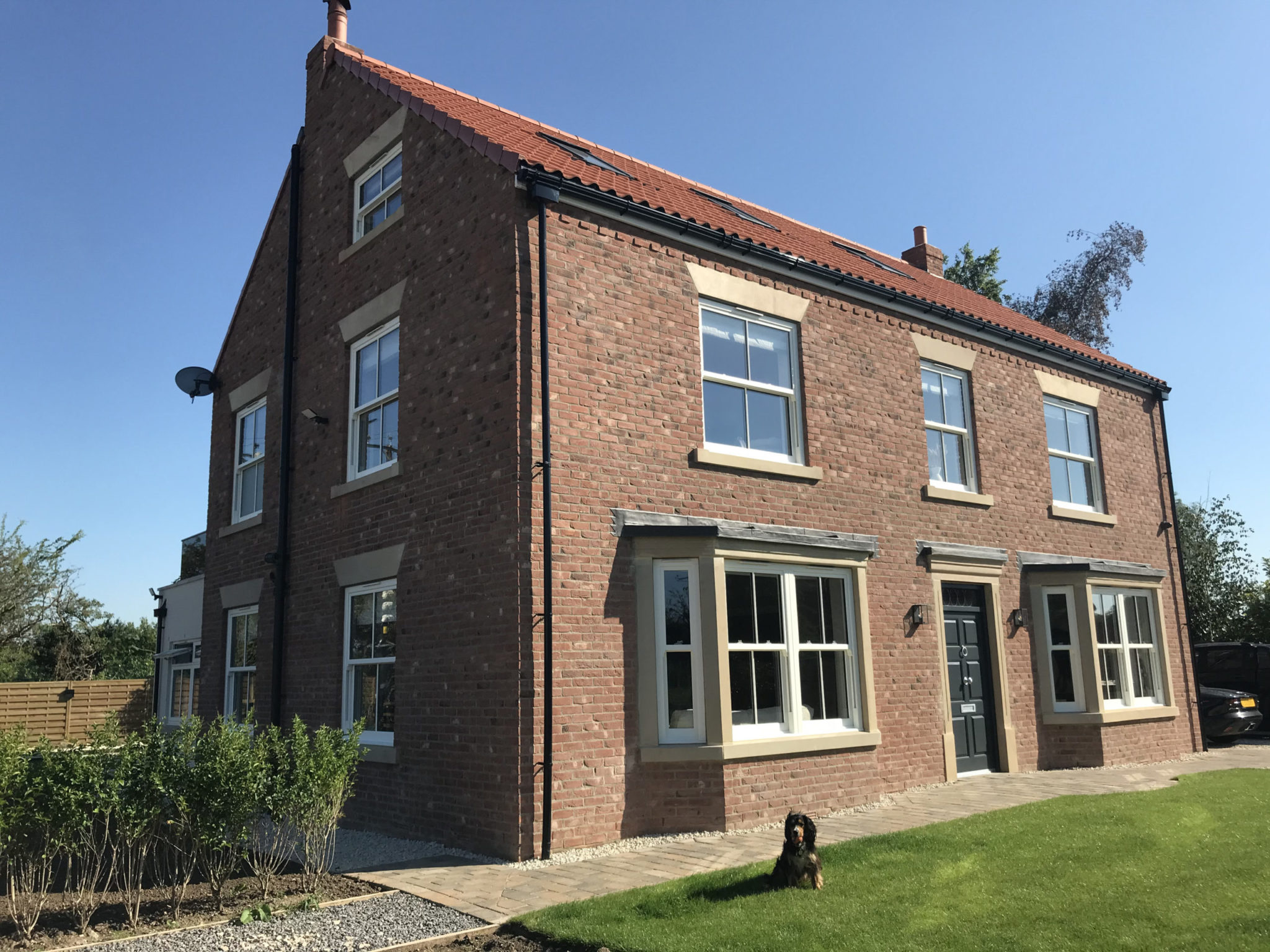 beautiful house with sliding sash windows